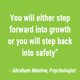 step forward into growth or back to safety both